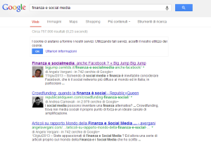 Immagine Search Finanza e Social Media