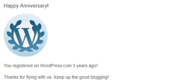 3 anni da blogger ... auguri ... grazie
